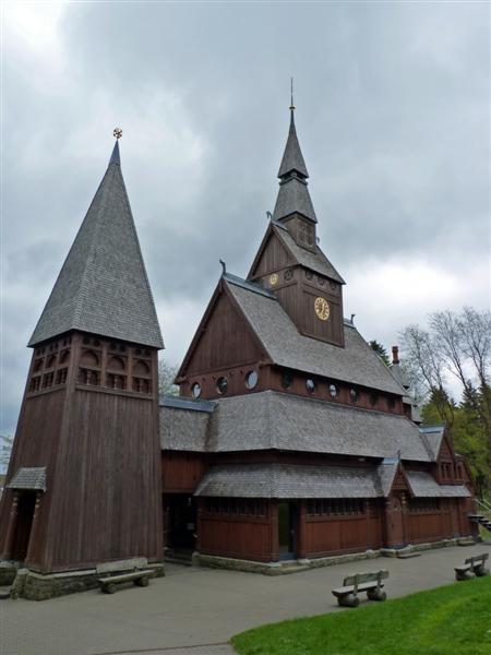 Einzigste Stabkirche außerhalb Norwegens