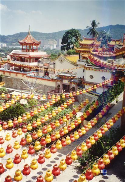 Geschmückt für das chinesische Neujahrsfest