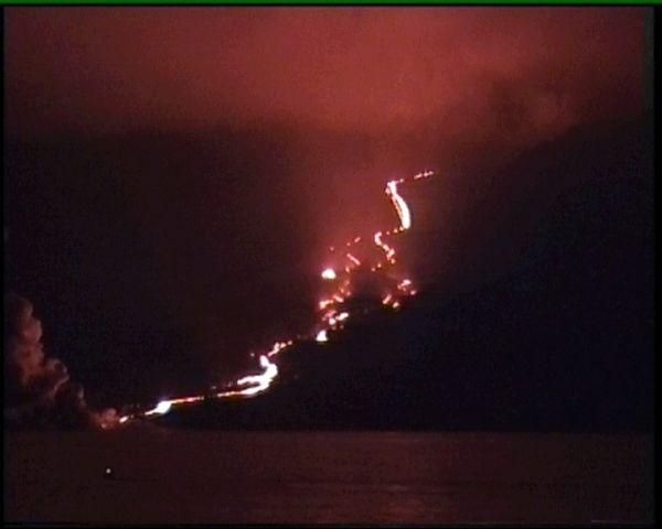 Ausbruch des Vulkans Piton de la Fournaise