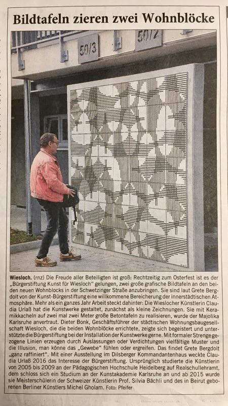 Rhein-Neckar-Zeitung, Samstag 15.04.2017