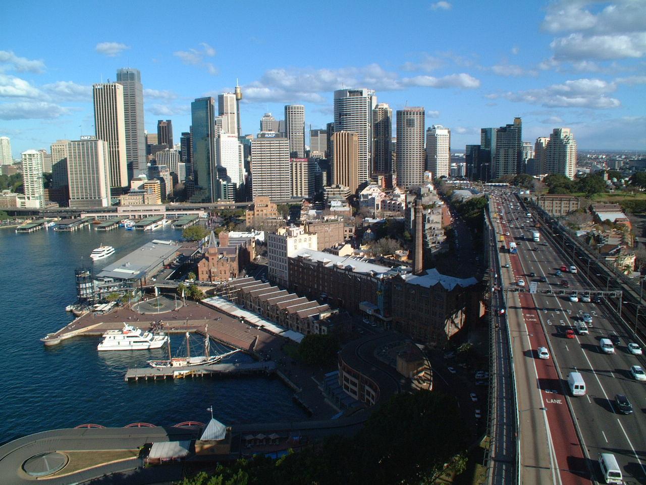 Downtown Sydney, Australië.