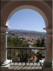 Vanuit La Recoleta heb je een schitterend uitzicht over de op de erfgoedlijst van Unesco staande stad; Sucre.