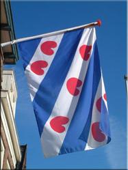 Als er één vlag van de Nederlandse provincies bekend is dan is het wel die van Friesland. Ook in Leeuwarden hangt ze trots aan de gevels.