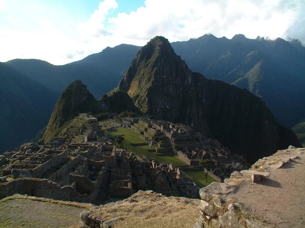 Eén van de 7 wereldwonderen, Machu Picchu in Peru.
