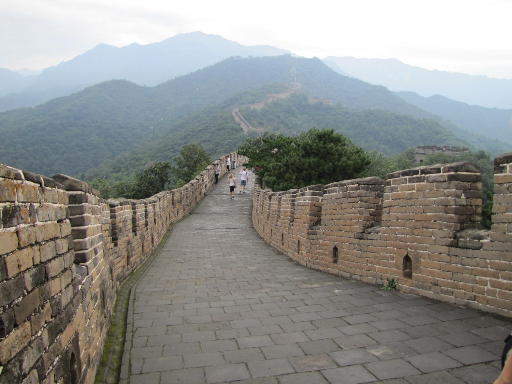 Eén van de 7 wereldwonderen, de Chinese muur in China.