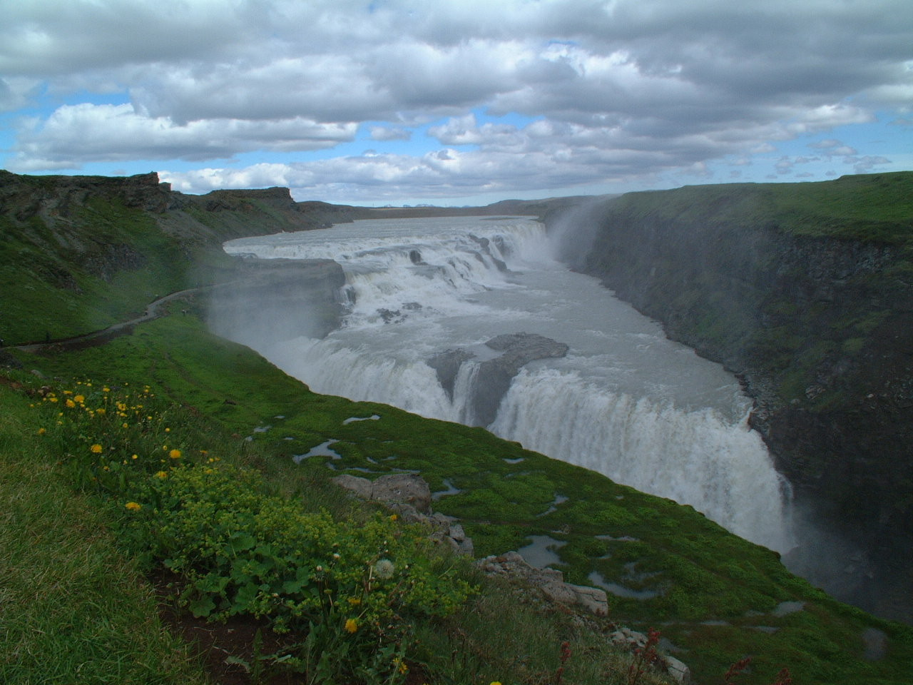 De Gulfoss waterval in IJsland.