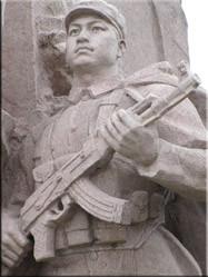 Standbeeld op het Tiananmenplein. Ook wel het plein van de hemelse vrede genaamd.