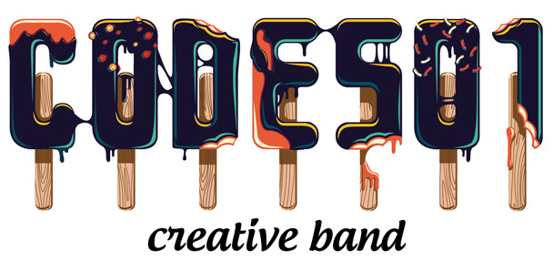 Typeface - dark ice cream, code501 - creative band, gif, font
