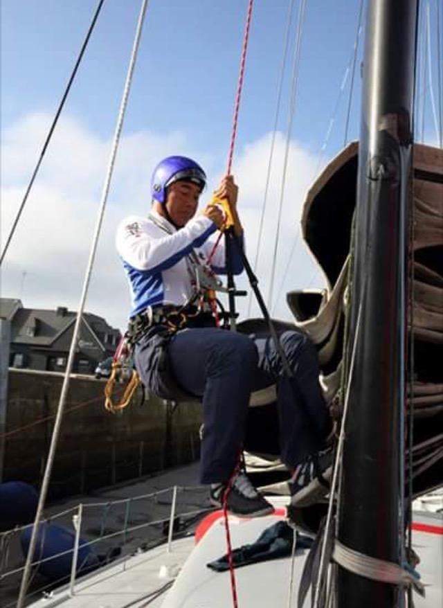 Mast climbing exercise