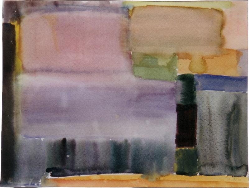 Farben des Sommers I Aquarell 36 x 47 cm