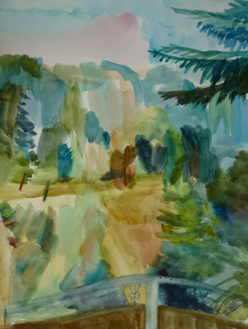 Tor zum Paradies Aquarell 37 x 28 cm