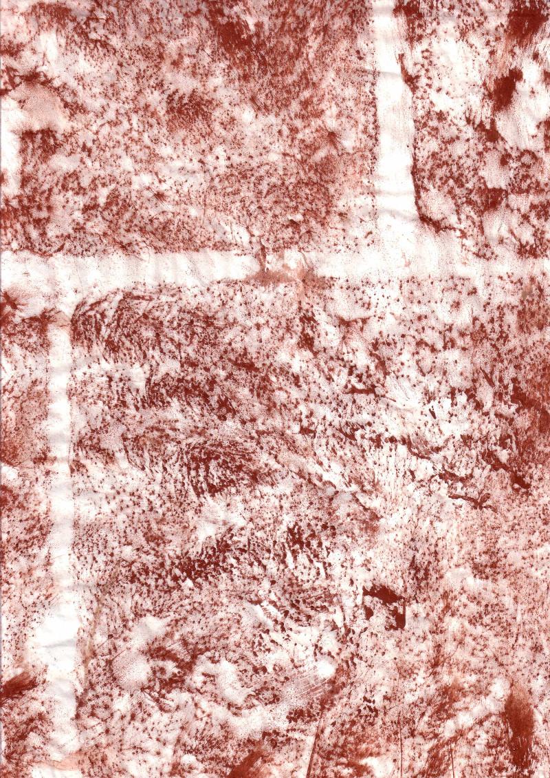 Detail einer Frottage