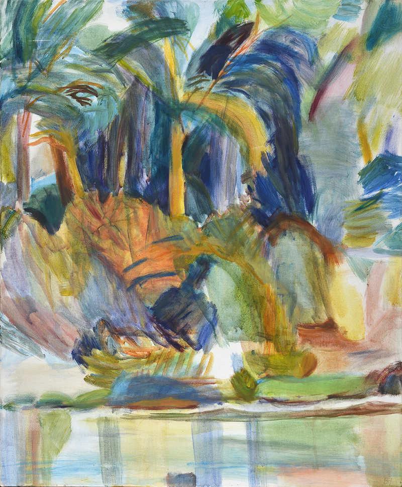 Paradies      Öl auf LW 80 x 65 cm