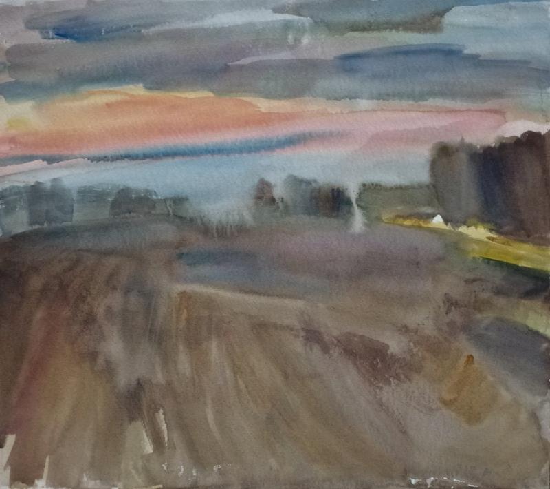 Vor Satzkorn  Aquarell 53 x 59 cm
