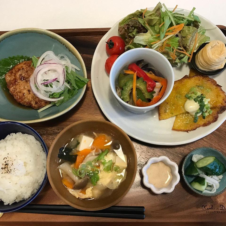 お野菜たっぷりの週替わりランチやヘルシーなゆばランチ、那須の三元豚の生姜焼き定食など5種類のランチ