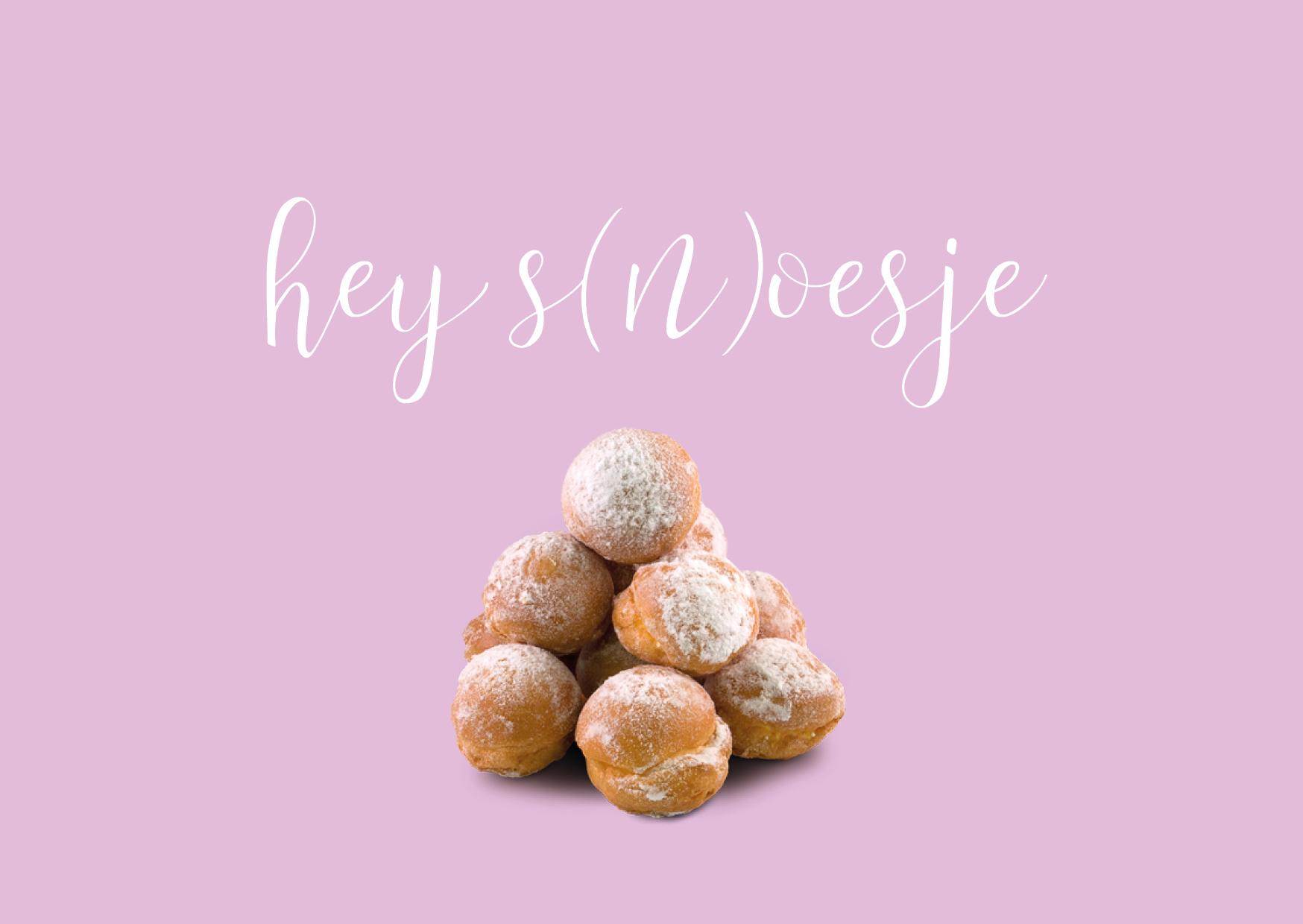 Hey (s)noesje - Ansichtkaart