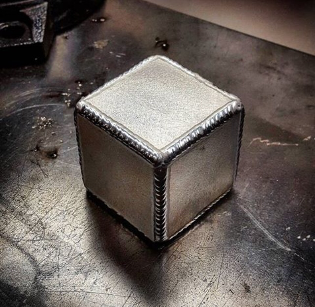 Aluminum tig welded cube