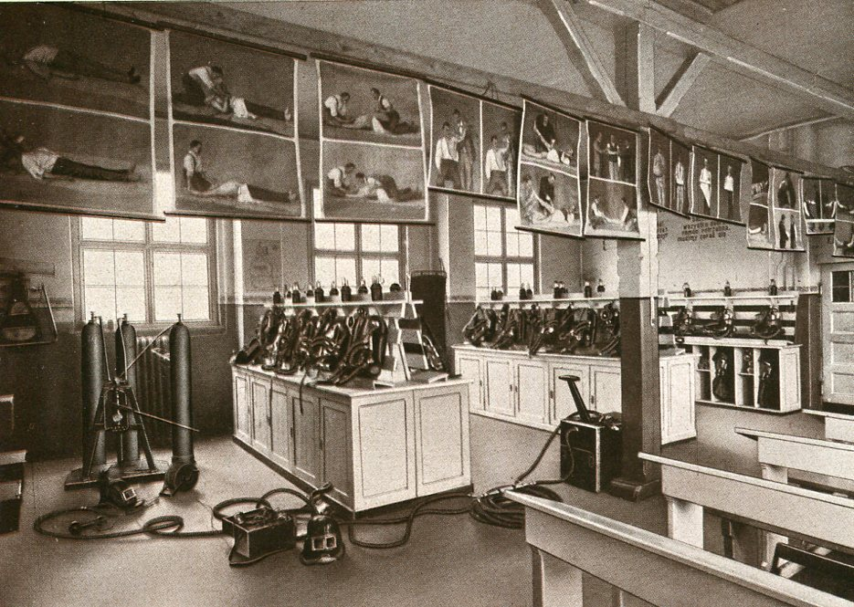 Gerätelager der Zentralrettungsstation Versuchsgrube Barbara  1929