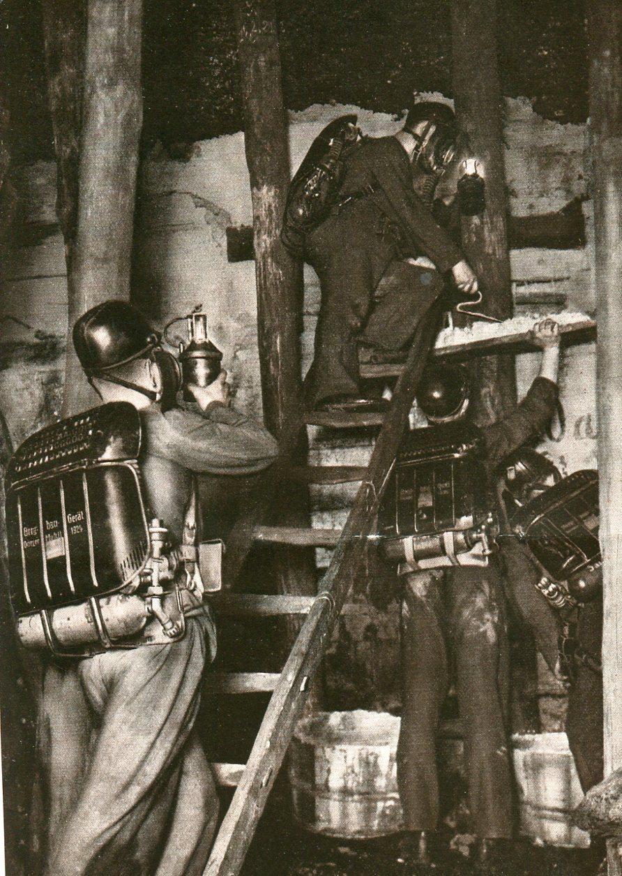 Bau eines Branddammes Florentine-Grube  1929