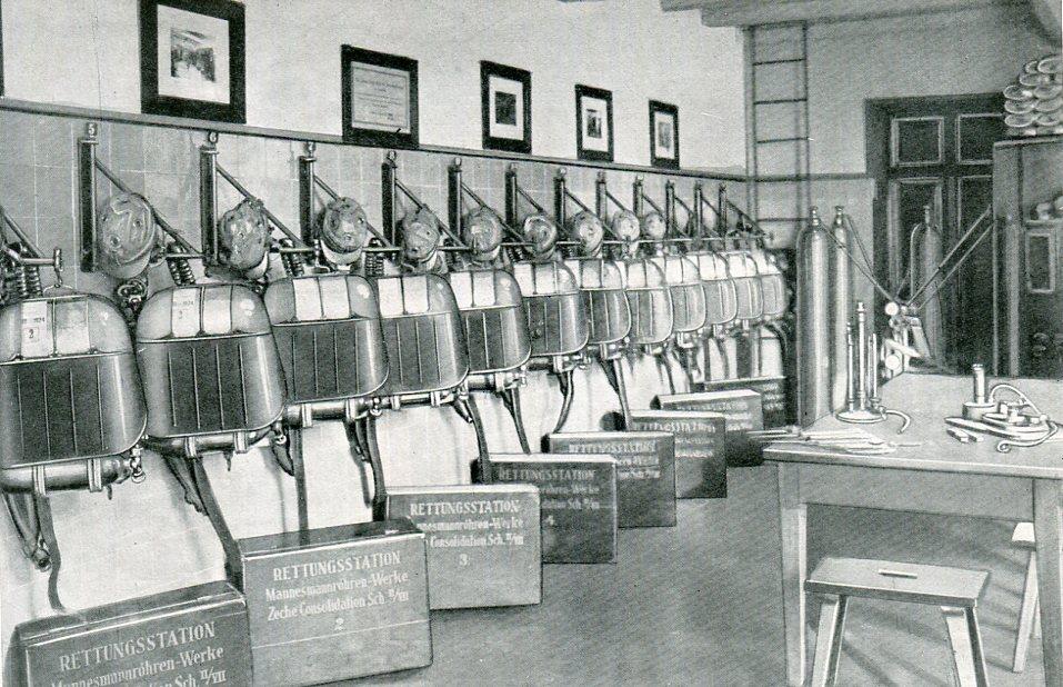 Geräteraum Zeche Consolidation in Gelsenkirchen  1929