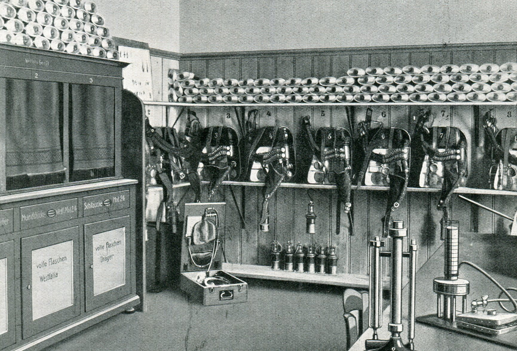 Gerätelager der Grube Hausham in Bayern  1927