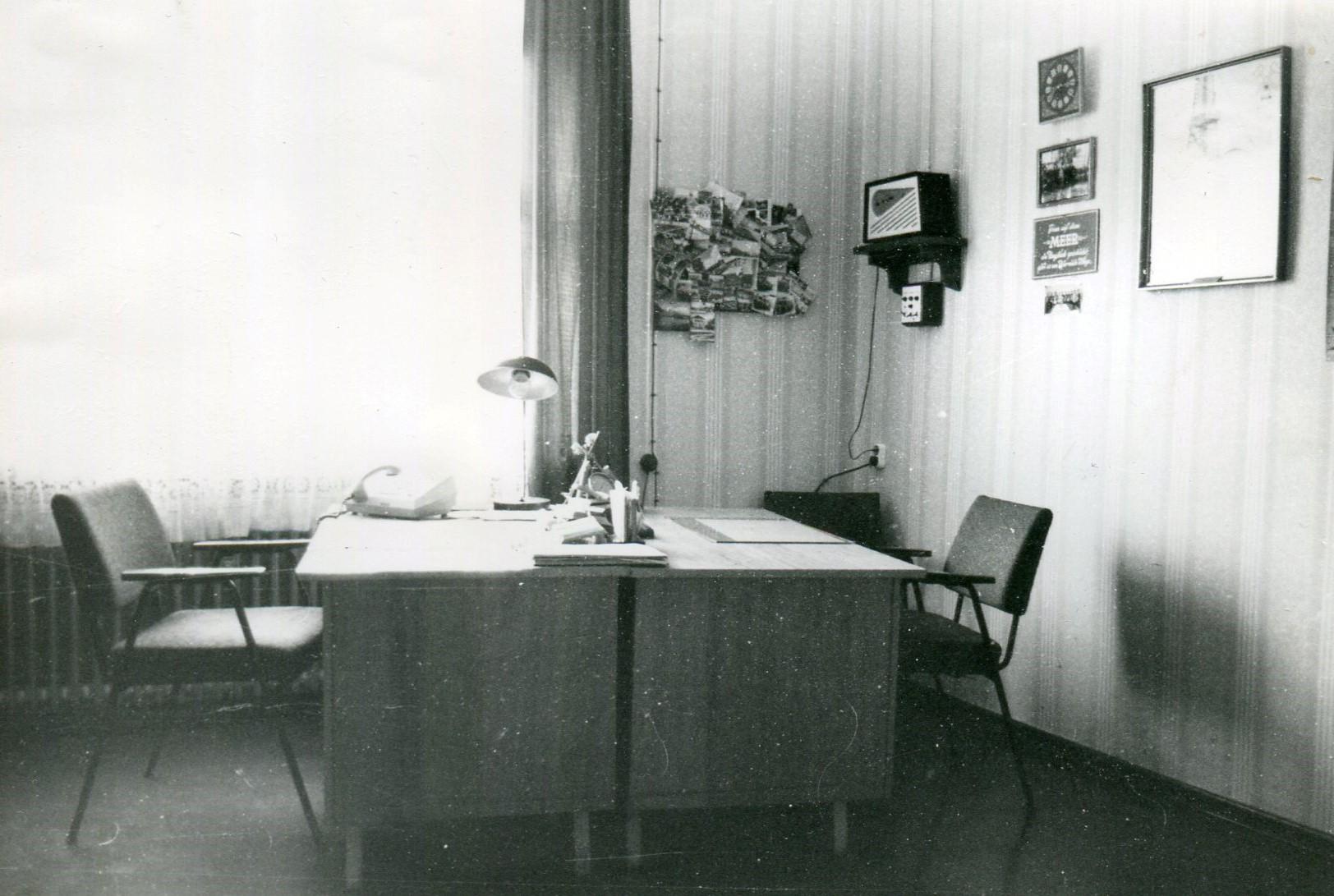Oberführerzimmer, rechts UKW-Alarmanlage