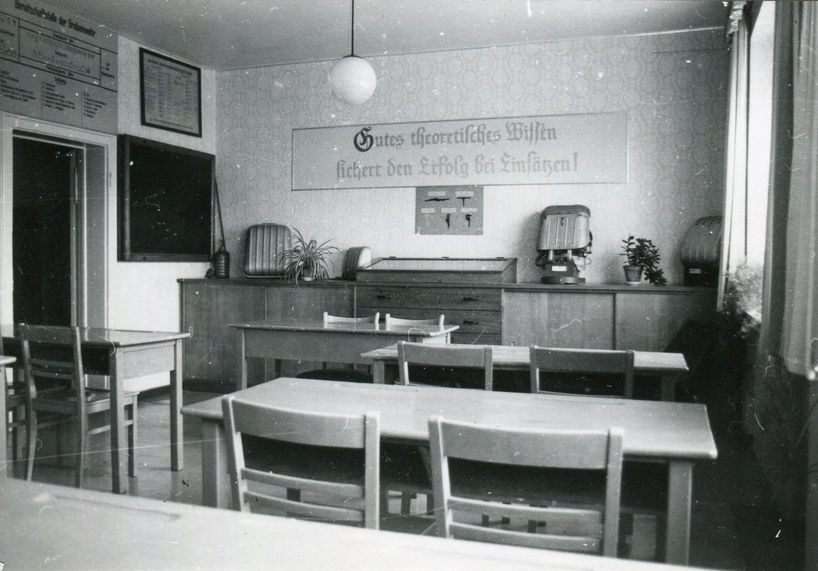 Unterrichtsraum der Grubenrettungsstelle