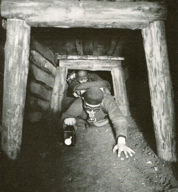Untertägige Übungsstrecke   1935
