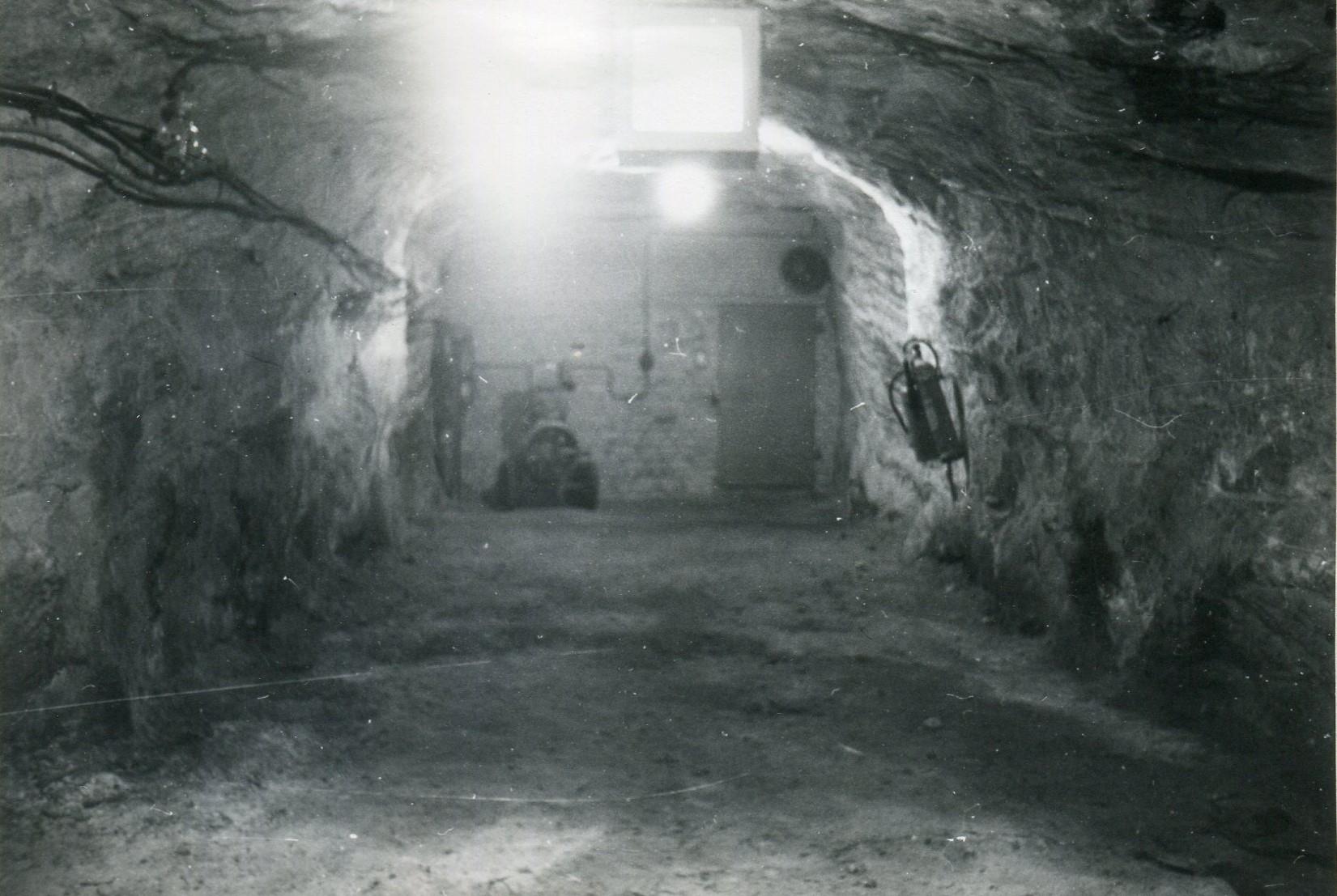 Eingang zum Gerätestützpunkt in der Grube Kleinbodungen