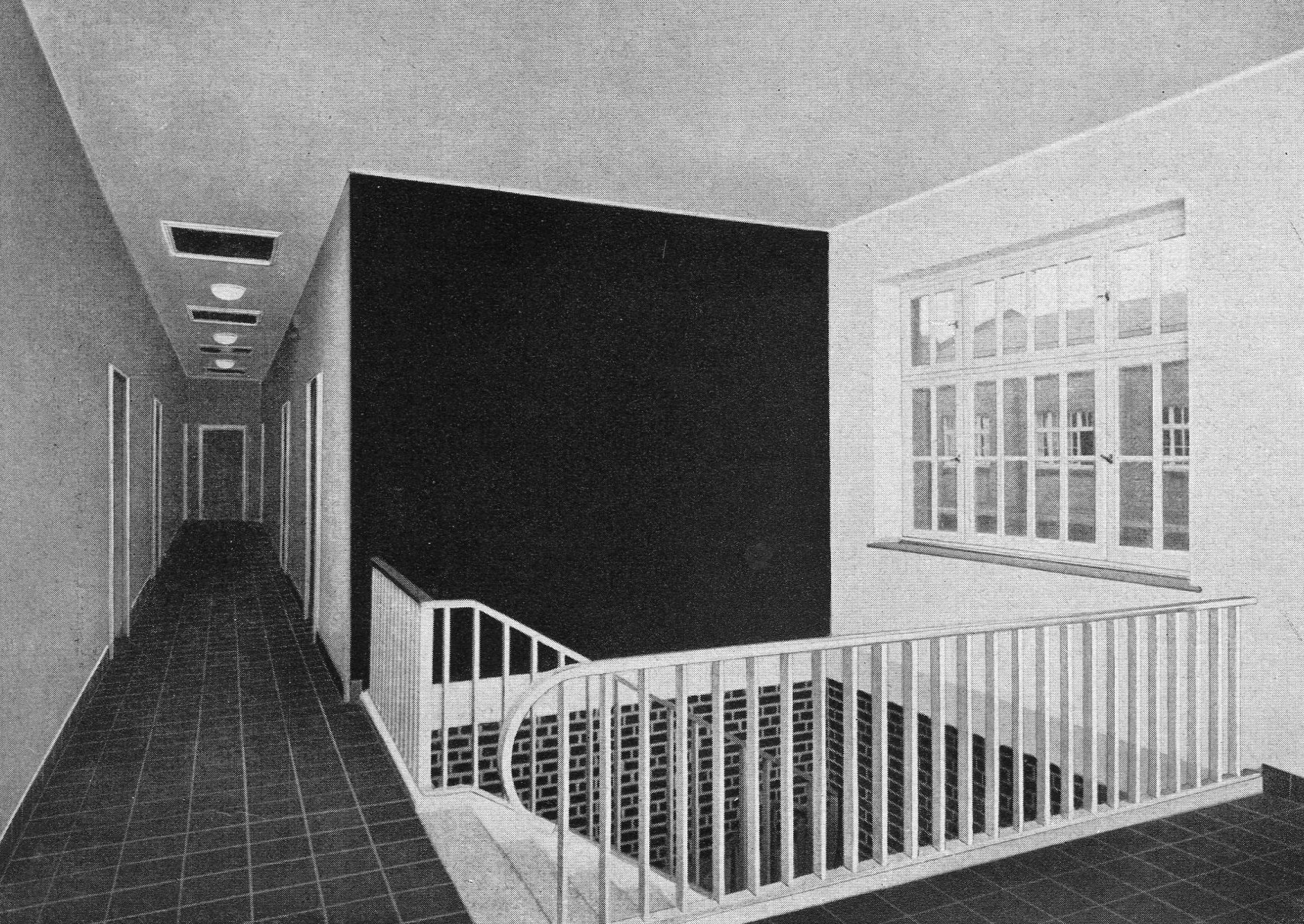 Treppenhaus der Zentralrettungsstelle und Feuerwache Rheinelbe