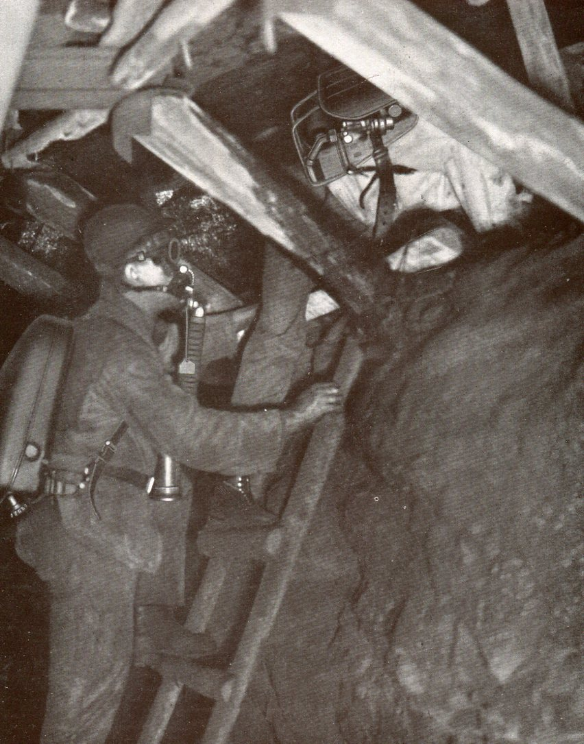 Befahrung eines Flözes mit BG-Modell 160 und Modell 1924