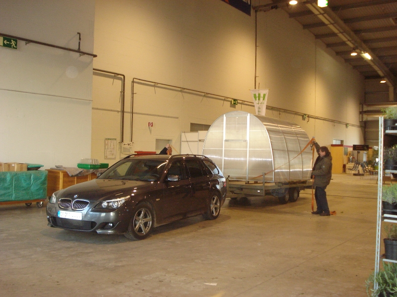 Abtransport Gewächshaustyp ST6