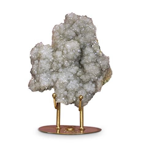Apophyllit XXL auf Metallstand. Dekoratives Mineral.