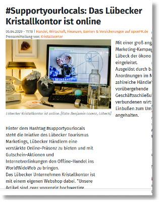 Supportyourlocals: Kristallkontor Lübeck
