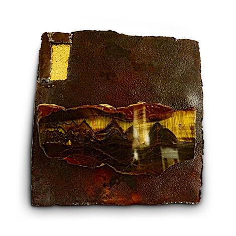 Materialkollage 'Tiefe der Zeit'. Bild der Ewigkeit.