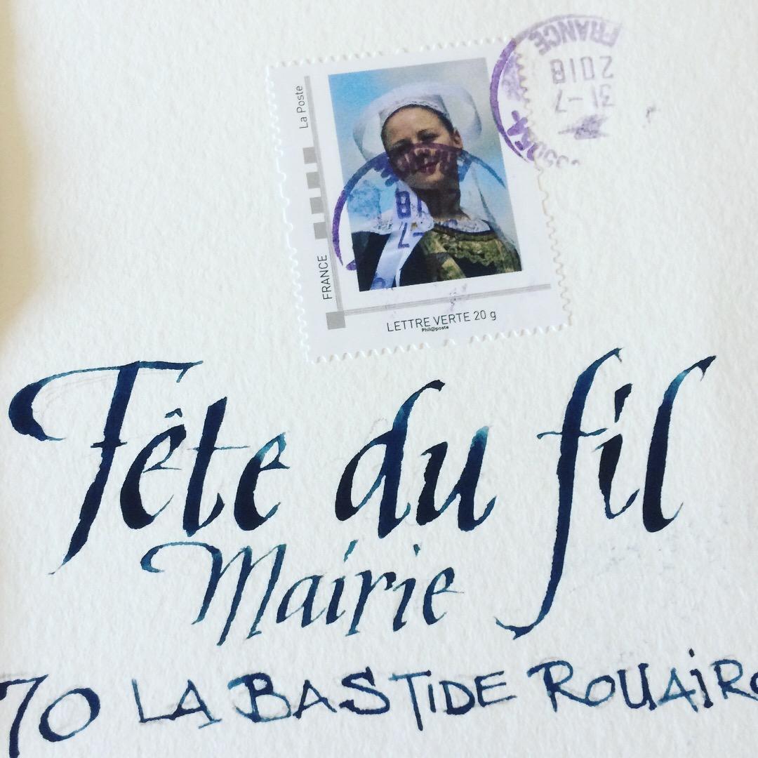 Art Postal Fête du Fil 2018 Labastide Rouairoux