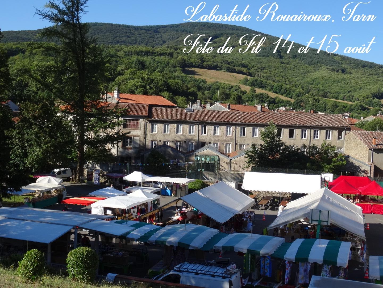 Fête du Fil 15 août Labastide Rouairoux (tarn-81270) FRANCE