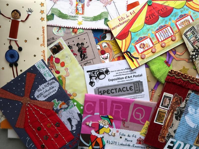 Art Postal, Fête du Fil 2017 Labastide Rouairoux