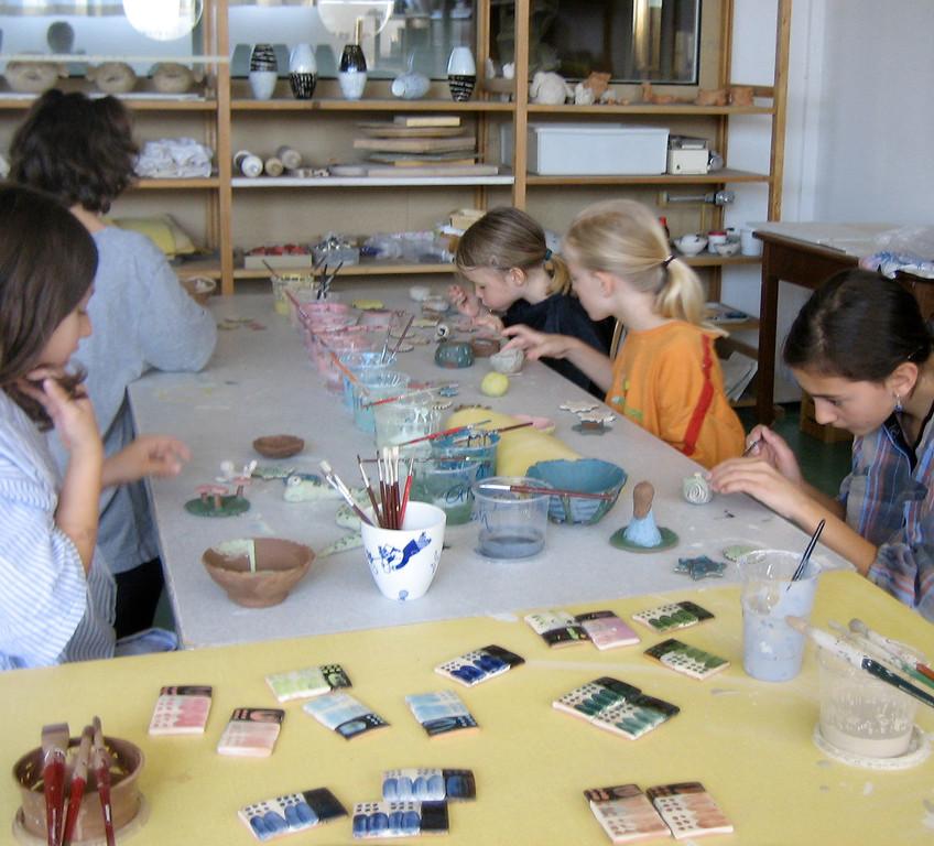 Fäger Kinderkurse 07-11 / Engobieren 2