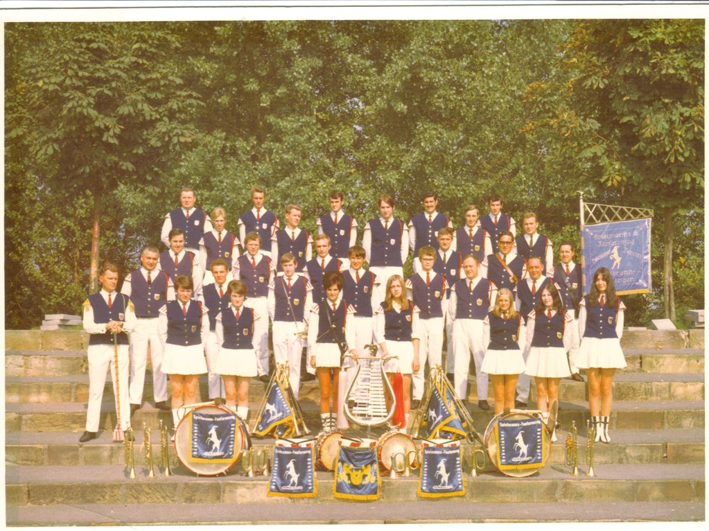 Fanfarenzug des Hohenloher Vereins 1969