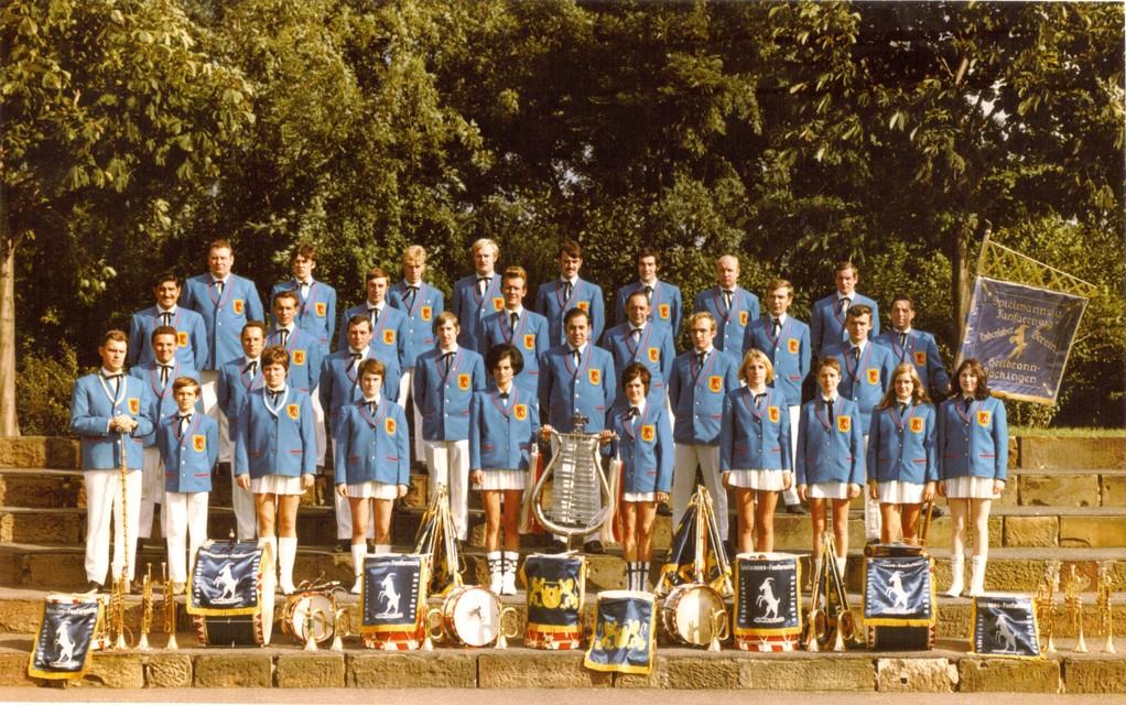 Fanfarenzug des Hohenloher Vereins 1970
