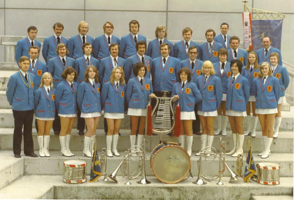 Fanfarenzug des hohenloher Vereins 1974