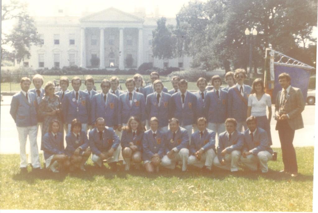 Hohenloher Fanfarenzug 1975  Weisses Haus Washington DC  USA