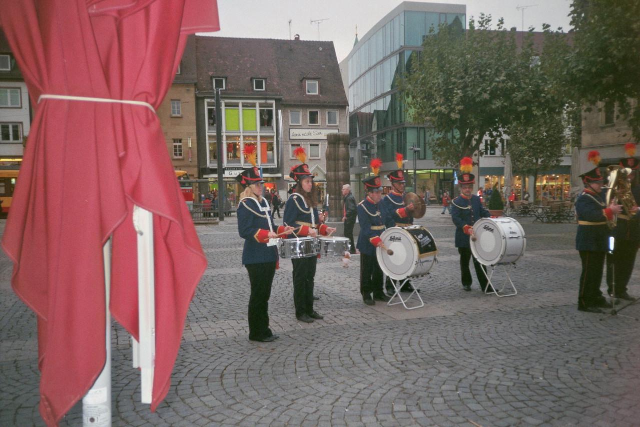 Auftritt Stadtgarde HN Okt.2012 Rathaus