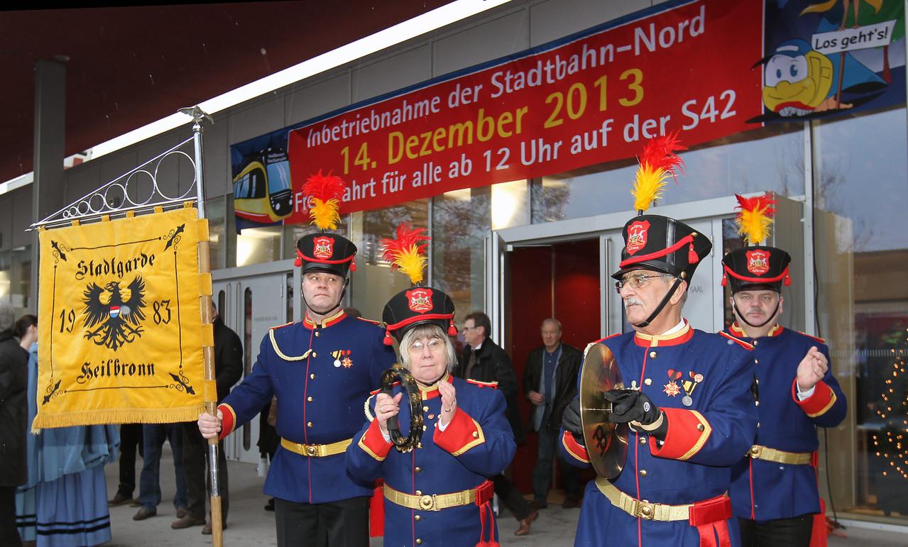 Stadtbahnerweiterung S 42 am 14.12.2013 Heilbronn