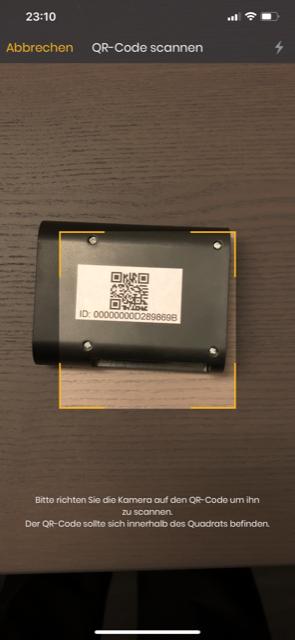 Solar Manager - Mit der App den QR-Code scannen