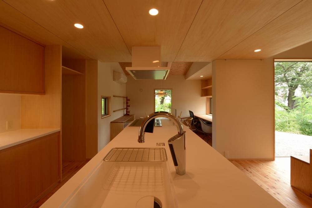 三郷の家Ⅳ(安曇野市)-台所~食堂