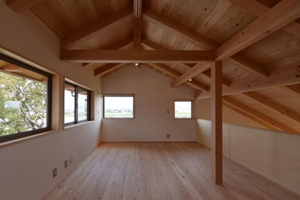 松本市 島立の家Ⅱ 2階 長野県松本市の建築設計事務所 建築家 丸山和男 現場監理 住宅