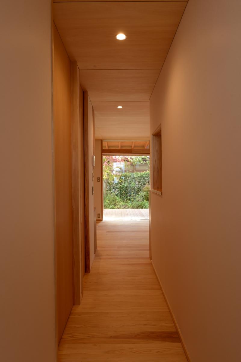吉田の家(長野市)・リノベーション|玄関ホール~居間・食堂・デッキ