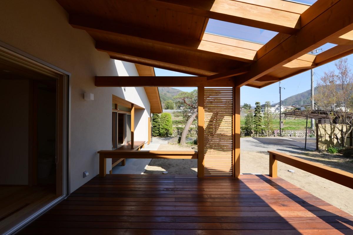 里山辺の家(松本市)-インナーデッキ
